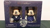 "DISNEY STORE VINYLMATION MICKEY & MINNIE MOUSE 3"" FIGURE SET 30TH ANNIVERSARY"