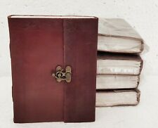 Leather Journal Handmade Vintage Design Diary Blank Notebook Notepad Lot of 5