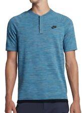 Nike Sportswear Tech Knit Men's Polo Shirt 846409 457 Triple Blue NWT MEDIUM