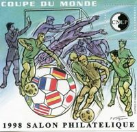 TIMBRE FRANCE BLOC FEUILLET CNEP N° 26 ** COUPE DU MONDE DE FOOTBALL 98 LYON