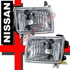 Euro Clear Chrome Headlights For 98-00 Nissan Frontier & 00-01 Xterra 1 Pair