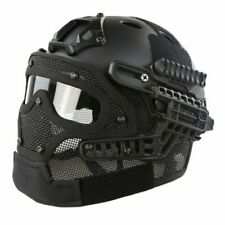 Black Replica Tactical Fast PJ G4 Helmet with Full Face Mask