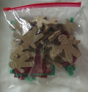 Lot of 28 Foam Gingerbread Men & Clothing Shapes Christmas Holiday Craft