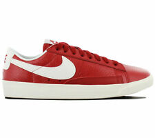 Nike Women Blazer Low Premium Red Leather Shoes 454471 601 Size 10