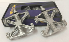 GT Wings MTB / BMX Bicycle Bike Alloy Pedal 9/16 Flat-Platform Old School Silver