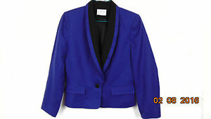 Pendelton Wool Womens Blazer Jacket Coat In Purple And Black Size 8