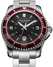 NWT  Victorinox 249108 Swiss Army Maverick Black Red  Stainlessl Watch