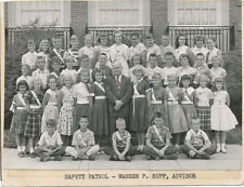 York Co. PA area * Safety Patrol School Real Photo ca. 1950 * Warren P. Rupp
