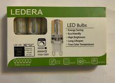 New LEDERA Dimmable G9 LED Bulb 3000K White 4W 35W Halogen Equivalent 6 Units