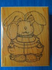 rubber stamp MOSTLY ANIMALS MARTY lg EASTER BUNNY