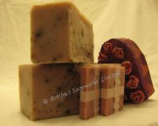 One Handmade Soap Loaf - Rose Petal Olive Oil Shea Soap Loaf Vegan