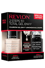 "REVLON COLORSTAY GEL ENVY NAIL ENAMEL ""Beginners Luck & Diamond Top Coat"" NEW"