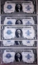 Sc One 1923 $1 Silver Certificate Horseblanket Old Paper Money Vf/Xf+ Free Ship!