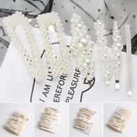 6 Pcs Pearl Hair Clips Barrettes Stick Woman Hairpins BB Clip Styling Tools Lot