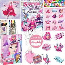 Pre Filled Childrens Superhero Girls Party Bags Birthday Bag Gifts Favours Toys