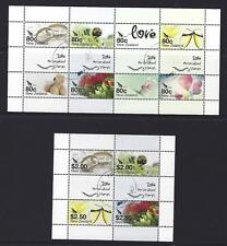 NEW ZEALAND 2014 PERSONALISED STAMPS 2 SHEETS FINE USED