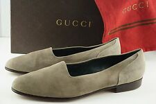 GUCCI Italy Tan Suede Slipper Dress Shoes Slip On Loafers MEN 45 D Excellent EUC