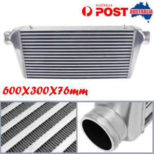 3'' Outlet/Inlet Bar & Plate Intercooler 600X300X76 mm Front Mount For Universal