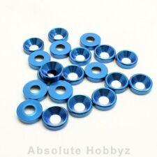 AHZ 4mm Countersunk / Concave Washers (Blue) (20pcs) - AHZ-10353