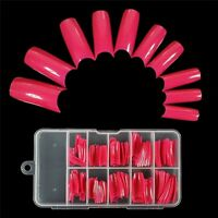 100 PCS False Acrylic Gel French Nail Art Half Tips Salon 10 Size 9 Colors US