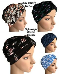 HEADWEAR FOR HAIR LOSS, LIGHTWEIGHT SOFT COMFY JERSEY TURBAN,  ALOPECIA, CANCER