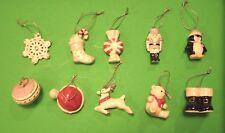 LENOX CHRISTMAS MEMORIES 10 miniature Tree Ornaments set NEW in BOX