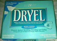 Dryel Dry Cleaning Clean Breeze Scent 6 Refill Cloths Discontinued