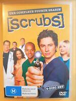 Scrubs : Season 4 [ 4 DVD Set ] Region 4, FREE Next Day Post from NSW