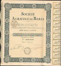Société Agricole de BARIA (SAIGON INDOCHINE) (N)