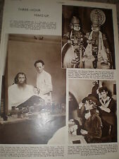 Photo article stage make up and hair Stuart Freebourne Bette Cross 1949 ref K