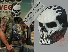 Fiery hell skeleton mask knight, Air gun paintball protection, Halloween mask.