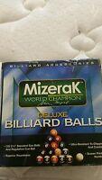 Excellent MIZERAK Deluxe Billiard Ball Complete Set w/Cue Ball in Box
