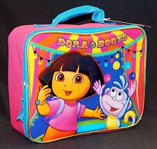 DORA the EXPLORER & BOOTS Pink Lead-Free Insulated Lunch Tote Box Kit NWT  $20