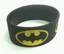 Batman repeat logo silicone wristband new