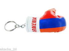 Porte clés Drapeau keychain ARMENIE ARMENIA FLAG Clé clefs Mini gant de boxe