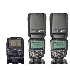 2pcs Yongnuo YN600EX-RT II TTL Flash Speedlite + YN-E3-RT Transmitter for Canon