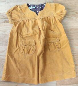 Baby Boden 18-24 months toddler dress mustard yellow fine needlecord girl baby