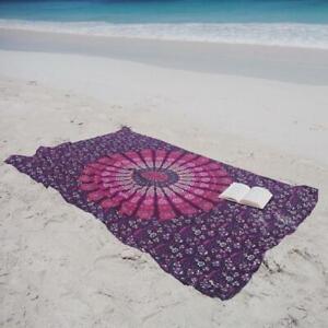 Pfau Mandala Twin Indisch Wandbehang 100% Baumwolle Yoga Deko Tuch 213cmX137cm