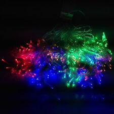 10m 400 LED Lichterkette Eisregen Lichtervorhang Fenster Tannenbaum Christbaum
