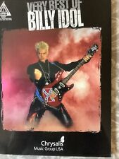 Very Best Of Billy Idol Guitar Recorded Versions Tablature Book Tabs