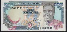 Zambia 10 Kwacha 1989 Pick31a  Mint Unc