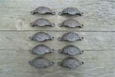 A set of 10 classic Victorian Kenrick cast iron drawer pull handles handle CH2