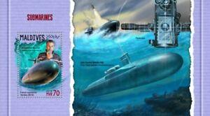Maldives - 2018 Submarines on Stamps - Stamp Souvenir Sheet MLD18302b