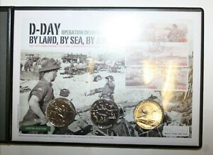 2014 Guernsey 3x Brilliant Uncirculated £5's on Cover D-Day Operation Overlord