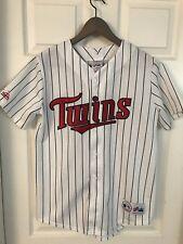 Minnesota Twins Shirt Youth Striped Magestic Vtg Throwback Mascot Autograph USA