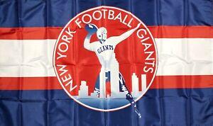 New York Giants NFL Retro Style Flag 3x5 ft Sports Blue Banner Man-Cave Garage