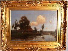 HOLLAND - COUNTRY LANDSCAPE, FARM AT THE WATERSIDE - JAN KNIKKER Jr. - DUTCH