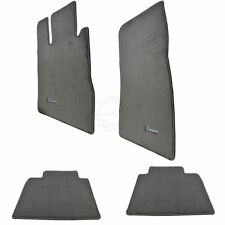 OEM Q-6-68-0548 Carpeted Floor Mats Mercedes Benz Embroidered Ash Gray for MB