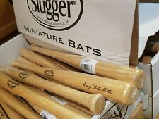"10 Louisville Slugger Mini Baseball Bats George Babe Ruth 18"" Souvenir Hardwood"