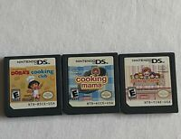 Nintendo DS Cooking Mama, Cooking Mama 2 & Dora's Cooking Club Game Lot!!